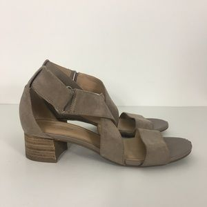 Naturalizer Taupe Strappy Adele Heel Sandals